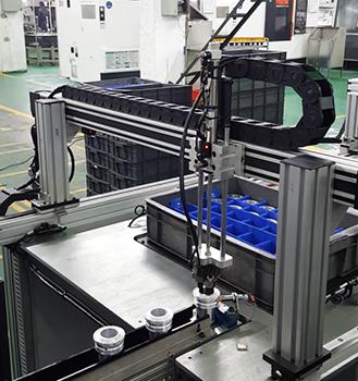 鋁套直臂式自動上下料生產線